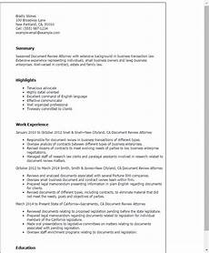 Resume Template Reviews Document Review Attorney Resume Template Best Design