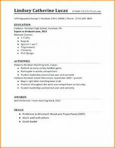 Resume Cover Letter Example For High School Students Examples Of Good Resumes For High School Students First