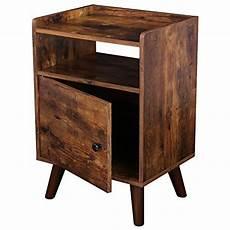 hoobro end table 3 tier nightstand with door side table
