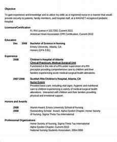 New Rn Resume Samples Free 7 Sample New Nurse Resume Templates In Ms Word Pdf