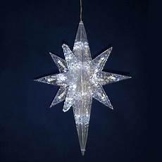 Led Lighted Star Of Bethlehem 19 Quot Led Lighted Pure White Star Of Bethlehem Hanging