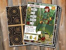 Trading Card Design Trading Card Mockup Archer By Roycroftcreative On Deviantart
