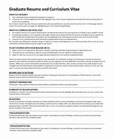 Graduate Certificate On Resume Free 9 Sample Graduate School Resume Templates In Pdf