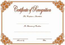 Word Certificate Templates Free Download 10 Downloadable Certificate Of Recognition Templates Free
