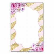 Pink Invitation Card 30 Blush Pink Gold Glitter Striped Invitation Thank You