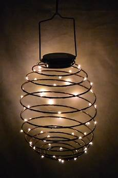 Spiral Solar Lights Vcs Solar Spiral Fairy String Lights Lantern Amp Reviews
