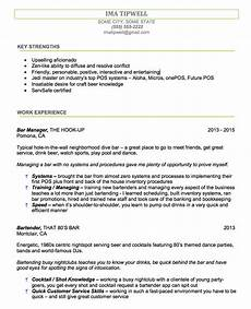 Bartending Resume Sample Bartenders Resume Writing Service We Tailor The Resume To You
