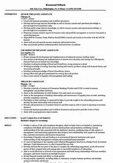 Treasury Resume Treasury Associate Resume Samples Velvet Jobs
