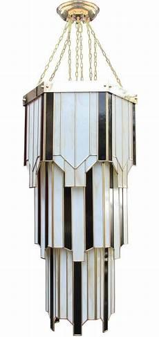 Art Deco Lighting New York Large Hexagonal Art Deco 8 Light Tiered