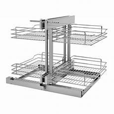 rev a shelf corner cabinet pull out chrome 2 tier basket
