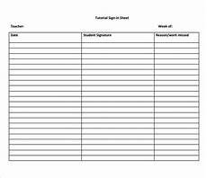 Blank Sign In Sheets Free 12 Sample School Sign In Sheet Templates In Pdf