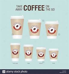 Coffee Cup Sizes Chart Coffee On The Go Cups Different Sizes Of Take Away Paper