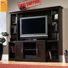cherry entertainment center tv stand wood storage media