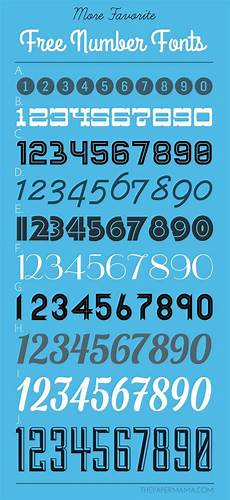 Fonts For Numbers The 25 Best Number Fonts Ideas On Pinterest Number