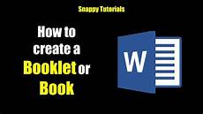 How Can I Download Word For Free Create A Booklet Or Book Microsoft Word Youtube