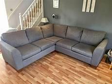 m s urbino fabric corner sofa for sale grey colour
