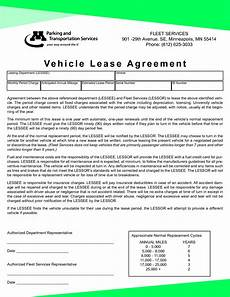 Auto Lease Agreement Vehicle Lease Agreement Gtld World Congress