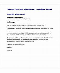 Resume Follow Up Letters Follow Up Letter Template 14 Free Sample Example