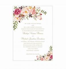 Free Programs To Make Invitations Printable Wedding Invitation Romantic Blossoms Make Your