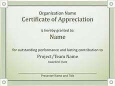 Powerpoint Certificate Of Appreciation Certificate Of Appreciation Templates Certificate Of