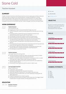Teacher Assistant Resume Teacher Assistant Resume Samples And Templates Visualcv