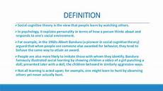Cognitive Learning Definition Social Cognitive Theory