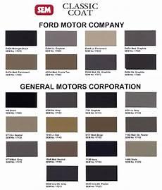 Sem Trim Paint Color Chart Sem Classic Coat Auto Leather And Vinyl Paint