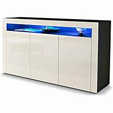 vladon sideboard chest drawers valencia carcass in black