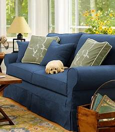 Navy Blue Sofa Slipcover 3d Image by Washable Furniture Slipcovers Slipcovers Free Shipping