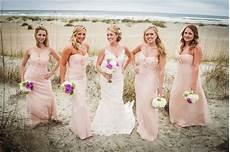 pale pink amsale bridesmaids dresses beach wedding