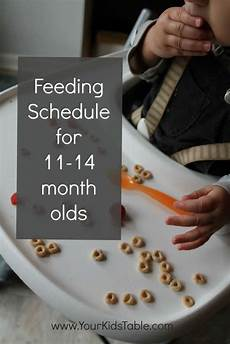 Baby Food Chart For One Year Old Easy Feeding Schedule For 1 Year Olds Your Kid S Table