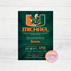 Bloom Design Miami Miami Hurricanes Party Invitation University Of Miami