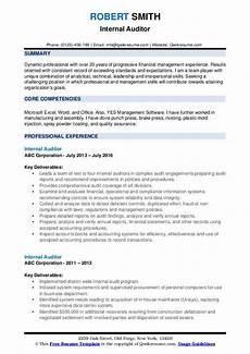 Internal Resume Template Internal Auditor Resume Samples Qwikresume