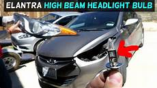 Hyundai Elantra Light Removal Hyundai Elantra High Beam Headlight Bulb Replacement 2011