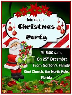 Free Christmas Invitation Templates Word 15 Free Christmas Party Invitation Templates Ms Office