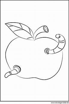 Malvorlagen Apfel Mit Wurm Kleiner Wurm Im Apfel Gratis Ausmalbild