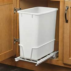 20 quart white trash can kitchen waste bin garbage pull