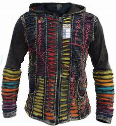 funky jacket psychedelic cotton light embroidery