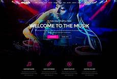 Music Html5 Template Musik Premium Responsive Music Bands Html5 Template