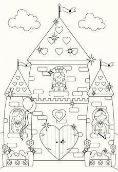 Malvorlagen Prinzessin Schloss Fairytale Sparkly Castle And Princess Characters To Color