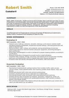 Custodian Job Description Resume Custodian Resume Samples Qwikresume