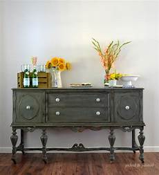 before after vintage buffet stylish patina