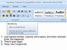 Numbering Tickets In Word How To Change Numbering Format In Word 2007 Numbered Lists