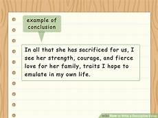 Descriptive Essay Conclusion Examples How To Write A Descriptive Essay 14 Steps With Pictures
