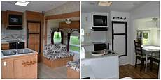 rv remodel before after pics to wander freely