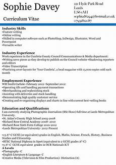 Journalism Cv Example Writing For Journalism Week Two Professional Cv S