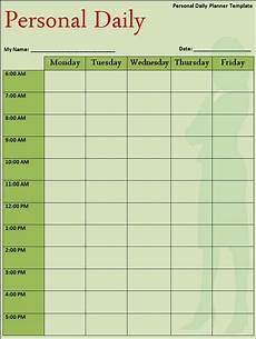 Daily Timetable Template Daily Planner Template Free Word S Templates