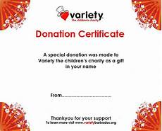Charity Gift Certificates 10 Donation Certificate Templates Free Printable Word