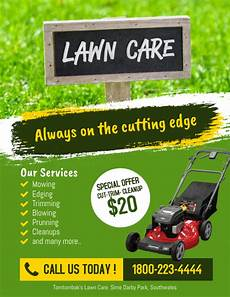 Lawn Mower Flyers Lawn Care Services Flyer Poster Template Postermywall