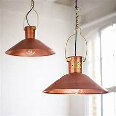 White And Copper Light Shade Copper Pendant Light By Country Lighting